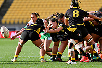 Acacia Claridge-Te Iwimate of the Wellington passes the ball during the Farah Palmer Cup Rugby – Wellington v Manawatu at Sky Stadium, Wellington, New Zealand on Friday 25 September 2020. <br /> Photo by Masanori Udagawa. <br /> www.photowellington.photoshelter.com