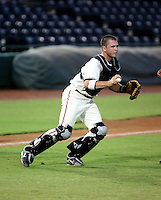 Buster Posey / AZL Giants in action against the Angels at Scottsdale Stadium - 08/24/2008..Photo by:  Bill Mitchell/Four Seam Images