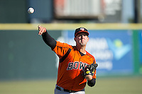 Bowie Baysox starting pitcher Terry Doyle (34) warms up in the outfield prior to the game against the Richmond Flying Squirrels at The Diamond on May 23, 2015 in Richmond, Virginia.  The Baysox defeated the Flying Squirrels 3-2.  (Brian Westerholt/Four Seam Images)
