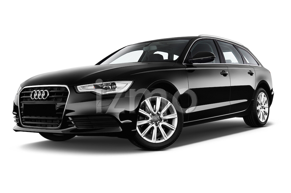 Low aggressive front three quarter view of a 2014 Audi A6 AVUS 5 Door Wagon 2WD