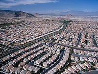 Las Vegas aerial view housing, NV