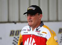 Apr 27, 2014; Baytown, TX, USA; NHRA top fuel dragster driver Doug Kalitta during the Spring Nationals at Royal Purple Raceway. Mandatory Credit: Mark J. Rebilas-