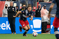 FOXBOROUGH, MA - MAY 16: Matt Polster #8 of New England Revolution during a game between Columbus SC and New England Revolution at Gillette Stadium on May 16, 2021 in Foxborough, Massachusetts.
