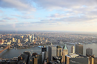 Blick aus dem One World Observatory im Freedom Tower am One World Trade Center auf Brooklyn