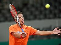 17-9-08, Netherlands, Apeldoorn, Tennis, Daviscup NL-Zuid Korea, Jesse Huta Galung tijdens de training