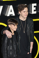 Romeo & Brooklyn Beckham attends the STAR WARS: 'The Force Awakens' EUROPEAN PREMIERE at Odeon, Empire & Vue Cinemas, Leicester Square, England on 16 December 2015. Photo by David Horn / PRiME Media Images