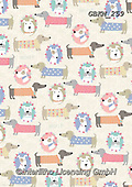 Kate, GIFT WRAPS, GESCHENKPAPIER, PAPEL DE REGALO, paintings+++++Dogs in floral posies,GBKM259,#gp#, EVERYDAY,dogs