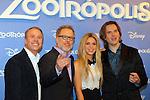 'Zootropolis' Barcelona Premiere.<br /> Photocall.<br /> Shakira, Clark Spencer, Byron Howard & Rich Moore.