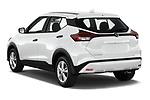 Car pictures of rear three quarter view of 2021 Nissan Kicks - 5 Door SUV Angular Rear