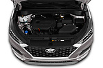 Car stock 2019 Hyundai Tucson SEL 5 Door SUV engine high angle detail view
