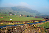 Mellor Knoll from Burholme Bridge, Whitewell, Lancashire. Forest of Bowland.