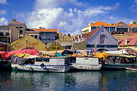 the Floating Market, Curacao, Netherland Antilles or Dutch ABC Island, Caribbean, Atlantic
