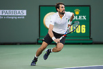 March 14, 2018: Jeremy Chardy (FRA) defeated by Roger Federer (SUI) 7-5, 6-4 in Wells Tennis Garden in Indian Wells, California. ©Mal Taam/TennisClix/CSM