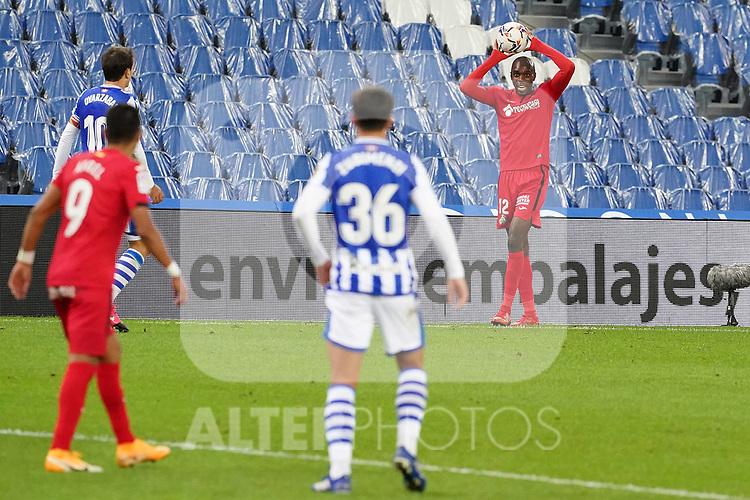 Getafe CF's Allan Nyom during La Liga match. October 3, 2020. (ALTERPHOTOS/Acero)
