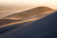 Blowing sand at sunset, Great Sand Dunes National Park.<br /> <br /> Canon EOS 5D, 70-200 f/2.8L lens