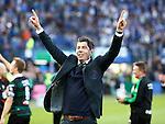 Nederland, Rotterdam, 3 mei 2015<br /> KNVB Bekerfinale<br /> Seizoen 2014-2015<br /> PEC Zwolle-FC Groningen<br /> Erwin van de Looi, trainer-coach van FC Groningen, viert het winnen van de KNVB Beker