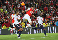 BOGOTA -COLOMBIA, 2-04-2017.Action game between Santa Fe and Medellin during match for the date 11 of the Aguila League I 2017 played at Nemesio Camacho El Campin stadium . Photo:VizzorImage / Felipe Caicedo  / Staff