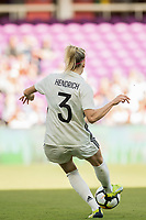 Orlando City, FL - Wednesday March 07, 2018: Hendrich during a 2018 SheBelieves Cup match between the women's national teams of Germany (GER) and France (FRA) at Orlando City Stadium.