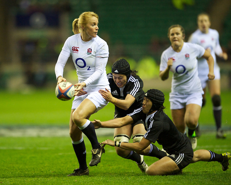 Michaela Staniford of England Women during the test match between England Women and the Black Ferns at Twickenham on Saturday 01 December 2012 (Photo by Rob Munro)