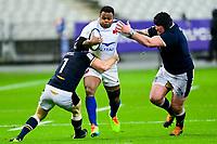 26th March 2021, Stade de France, Saint-Denis, France; Guinness 6-Nations international rugby, France versus Scotland;  Virimi Vakatawa (Fra) runs into Ryan Wilson (Sco)