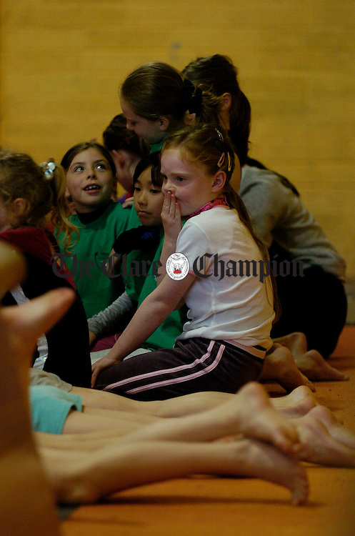 The tension mounts at the Clare Community Games Gymnastics finals in Ennis. Photograph by John Kelly.