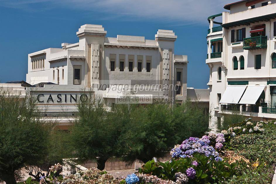 Europe/France/Aquitaine/64/Pyrénées-Atlantiques/Pays-Basque/Biarritz: Le Casino  de style Art déco,