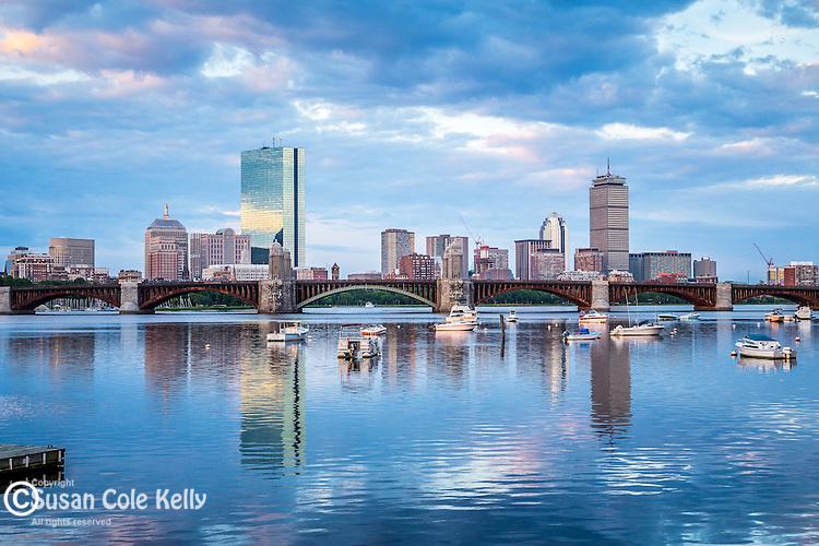 A summer morning on the Charles River, Boston, Massachusetts, USA
