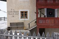 """Europe/Italie/Trentin Haut-Adige/Dolomites/Alta Badia/env de San Cassiano/Pedraces:  Auberge de Montagne   """"Maso Runch Hof"""""""
