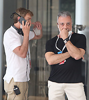 NEW YORK, NY - July 14: Michael Patrick King, John Melfi, on the set of the HBOMax Sex And The City reboot series 'And Just Like That' in New York City on July 14, 2021. <br /> CAP/MPI/RW<br /> ©RW/MPI/Capital Pictures
