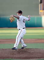 Kyle Nicholson / AZL Giants pitching against the Royals at Scottsdale Stadium - 07/28/2008..Photo by:  Bill Mitchell/Four Seam Images