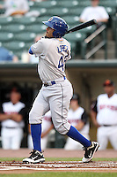 Durham Bulls third baseman Felipe Lopez #45 during a game against the Rochester Red Wings at Frontier Field on July 18, 2011 in Rochester, New York.  Durham defeated Rochester 4-1.  (Mike Janes/Four Seam Images)