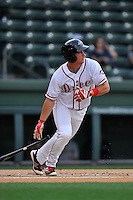 Third baseman Mitchell Gunsolus (22) of the Greenville Drive bats in a game against the Charleston RiverDogs on Tuesday, May 17, 2016, at Fluor Field at the West End in Greenville, South Carolina. Greenville won, 4-2. (Tom Priddy/Four Seam Images)
