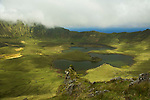 The Caldeirão in the center of Corvo island  is a crater of an old volcano that gave origin to the island. 300 meters in depth and 3400 meters in perimeter.