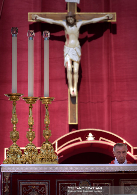 Spanish Cardinal Luis Francisco Ladaria Ferrer..Pope Francis during the solemn mass to celebrate the feast of Saint Peter and Saint Paul with the new Cardinals and the new Metropolitan Archbishops on June 29, 2018 in Saint Peter's square at the Vatican.
