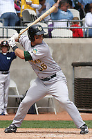 Devin Mesoraco #36 of the Lynchburg Hillcats at bat during a game against the Kinston Indians at Granger Stadium on April 28, 2010 in Kinston, NC. Photo by Robert Gurganus/Four Seam Images.