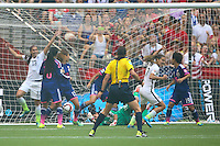 Vancouver, Canada - Sunday, July 5, 2015: The USWNT go up 5-2 over Japan during second half action in the 2015 FIFA Women's World Cup Final at BC Place.