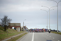 widened out peloton<br /> <br /> Omloop Het Nieuwsblad 2015