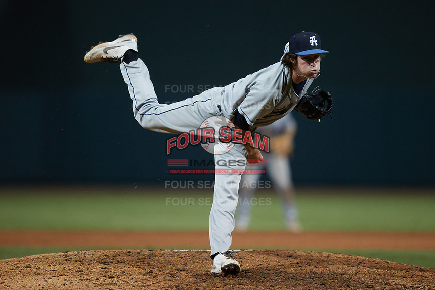 Asheville Tourists relief pitcher Danny Cody (19) in action against the Winston-Salem Dash at Truist Stadium on September 17, 2021 in Winston-Salem, North Carolina. (Brian Westerholt/Four Seam Images)