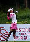 Yuting Shi of China plays a shot during the Hyundai China Ladies Open 2014 on December 10 2014 at Mission Hills Shenzhen, in Shenzhen, China. Photo by Xaume Olleros / Power Sport Images