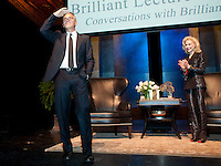 Brilliant Lecture Series hosts George Clooney interviewed by Lynn Wyatt at the W ortham Center Brown Theatre