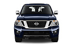 Car photography straight front view of a 2019 Nissan Armada SL 5 Door SUV