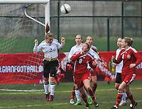 Denmark U17 - Germany U17 : duel met 2 Ricarda Walkling en 8 Lykke Thomsen.foto Joke Vuylsteke / Vrouwenteam.be