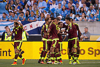 Action photo during the match Uruguay vs Venezuela at Lincoln Financial Field Stadium Copa America Centenario 2016. ---Foto  de accion durante el partido Uruguay vs Venezuela, En el Estadio Lincoln Financial Field Partido Correspondiante al Grupo - C -  de la Copa America Centenario USA 2016, en la foto: Festejo d egol de Salomon Rondon<br /> --- 09/06/2016/MEXSPORT/Osvaldo Aguilar.