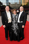 From left: Perryn Leach, chair Donna Josey Chapman and Patrick Summers at the Houston Grand Opera Ball - Carousel! at the Wortham Theater Saturday April 9,2016.(Dave Rossman Photo)