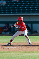 Arizona Wildcats left fielder Matt Frazier (22) shows bunt during an NCAA exhibition game against Cal State Fullerton Titans at Sloan Park on October 28, 2018 in Mesa, Arizona. (Zachary Lucy/Four Seam Images)
