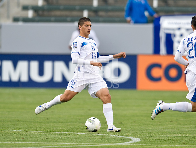 CARSON, CA - March 23, 2012: Johnny Leveron (16) during the Honduras vs Panama match at the Home Depot Center in Carson, California. Final score Honduras 3, Panama 1.