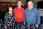 Patricia and Liam Freeman with Commandant Liam Lynch as Liam Freeman received the Samphire Award for his outstanding contribution to the development of the Tralee Bay Sailing Club at the Clubhouse in Fenit on Tuesday
