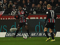 Almamy Touré (Eintracht Frankfurt) und Sebastian Rode (Eintracht Frankfurt) - 18.12.2019: Eintracht Frankfurt vs. 1. FC Koeln, Commerzbank Arena, 16. Spieltag<br /> DISCLAIMER: DFL regulations prohibit any use of photographs as image sequences and/or quasi-video.