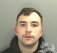 Pictured: Lewis Alexander<br /> Re: Rugby player Lewis Alexander, who knocked out a gay man's front teeth at a house party in an unprovoked homophobic attack has been jailed by Newport Crown Court, Wales, UK.<br /> Alexander, 23, lashed out and punched Geraint Healy in the mouth after he was asked to leave because of his drunken behaviour.<br /> Prosecutor Eugene Egan said around eight people had left a pub and gone to a house in Bedwas, after closing time last month.<br /> Alexander reacted by using offensive language to abuse his victim over his sexuality after he had told him off.