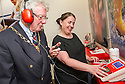 Falkirk's Deputy Provost, Councillor John Patrick takes part in a two minute hearing test with audiologist Lynsey McDonald.<br /> <br /> <br /> 29/06/2016    003_amplifon  <br /> Copyright  Pic : James Stewart   <br /> James Stewart Photography, 19 Carronlea Drive, Falkirk. FK2 8DN  <br /> Vat Reg No. 607 6932 25  <br /> Mobile : +44 (0)7721 416997  <br /> E-mail  :  jim@jspa.co.uk  <br /> If you require further information then contact Jim Stewart on any of the numbers above ...